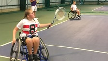 Searching for new wheelchair tennis stars in Ipswich