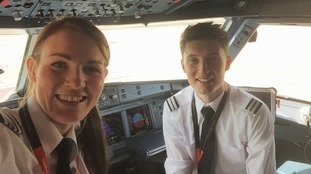 High flying Kate is world's youngest airline captain at 26