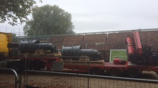 Part of the new pump being installed at the Foss Barrier in York.