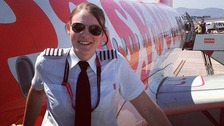 High flying Kate is youngest airline captain at just 26