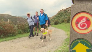 Walking club has a great way to help people with visual impairments enjoy Snowdonia