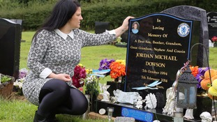 Tanya Lofthouse visits the grave of her football-mad son Jordan Dowson every day. Jordan loved Chelsea Football Club