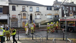 Firefighters at a disused nightclub in Luton