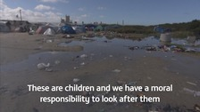 The Calais Jungle migrant camp