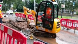 Drivers faced rush hour chaos after burst water main