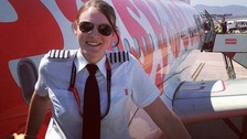 VIDEO: High flying Kate is youngest airline captain at just 26