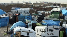 "Calais migrant camp, ""The Jungle"""