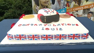 Louis was treated to a cycle-themed cake!