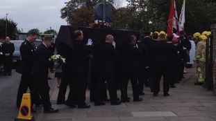 Suffolk firefighter's funeral