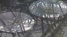 Never before seen CCTV of Alton Towers Smiler ride crash