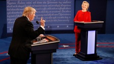 Clinton and Trump debate