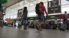 Stansted passengers face walking over a kilometre