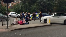 Young girl taken to hospital after being hit by car