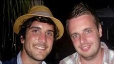 James Kouzaris (left) and James Cooper were shot in Sarasota