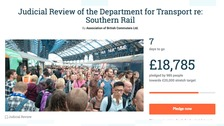 Crowdfunding raises £18k to challenge Southern Rail