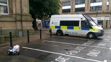 The trike outside of Accrington's new town centre police station