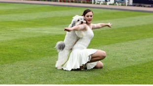 Pudsey and Ashleigh performing