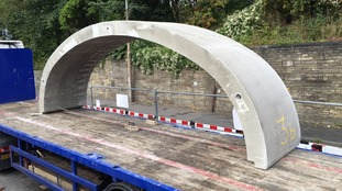 Elland Bridge set to open this year with new arch put in place