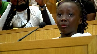'We are black people and we shouldn't have to feel like this': Girl cries during Charlotte police shooting speech