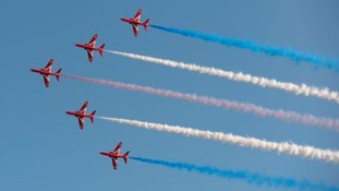Red Arrows hard at work training for upcoming Middle East tour