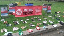 Silent shoe protest at lack of funding for ME