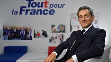 Les Republicains candidate for his party's presidential primaries, Nicolas Sarkozy.