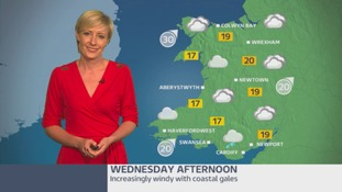 Wales weather: a windy Wednesday with gales along the coast