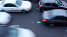 Stop-start traffic on the M6 Northbound
