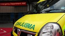 Man taken to hospital following motorbike and car collision