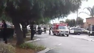 The scene of the shooting in California