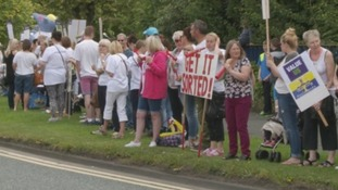 Teaching assistants have been protesting outside County Hall in Durham