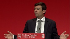 Andy Burnham made the announcement at Labour's party conference.