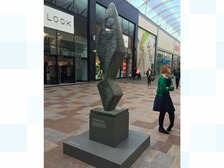 Hepworth sculpture goes on display at shopping centre