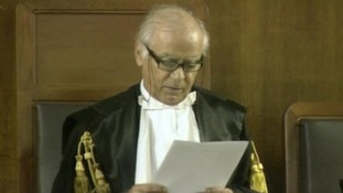 Judge Edoardo d'Avossa reads out the sentence