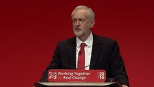 Jeremy Corbyn pleas for party unity in Labour keynote speech