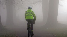 Cyclist in Bristol