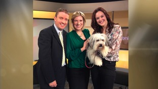 Russell and Emma make friends with Ashleigh and Pudsey