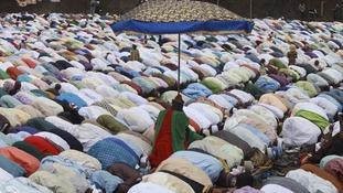 Muslims attend Eid al-Adha prayers in Lagos