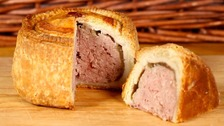 Pensioner stopped at airport because of pork pie
