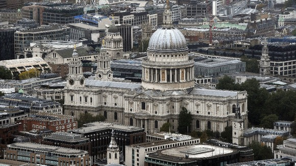 A view of St Paul's Cathedral from the new visitor attraction 'The View from the Shard