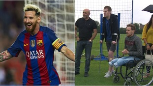 Barcelona hero Messi donates signed shirt to raise funds for injured footballers