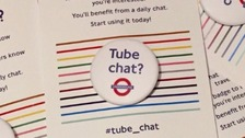 'Tube chat' badges to get strangers talking