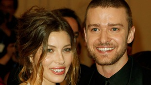 Jessica Biel and Justin Timberlake arrive at the Metropolitan Museum of Art Costume Institute in New York, 2010