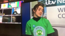 Maisie Williams is working with the NSPCC to help stop bullying and child abuse