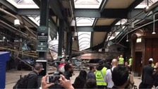 'Mass casualties' after train crashes in New Jersey
