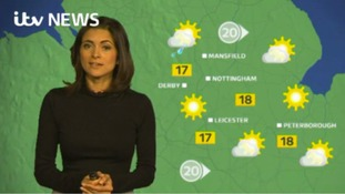 East Midlands Weather: Rain at first