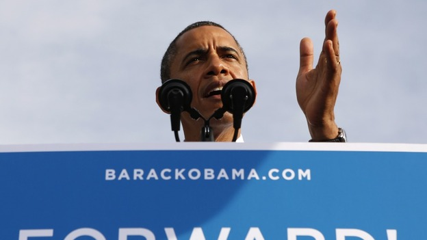 U.S. President Barack Obama speaks during a campaign rally in Tampa