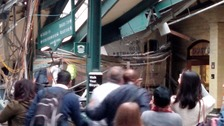 'Mass casualties' feared after train crashes into New Jersey station