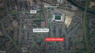 The incident took place in Fletton Avenue.
