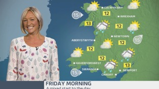 Wales Weather: Feeling cooler with sunshine and showers!